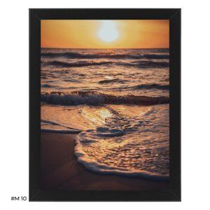 "Plakat ""zachód słońca nad morzem"" #M10"