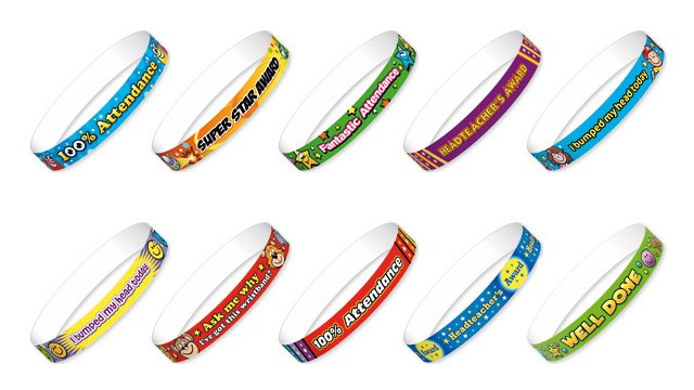 Reward or Remind Pupils with a Paper Wristband
