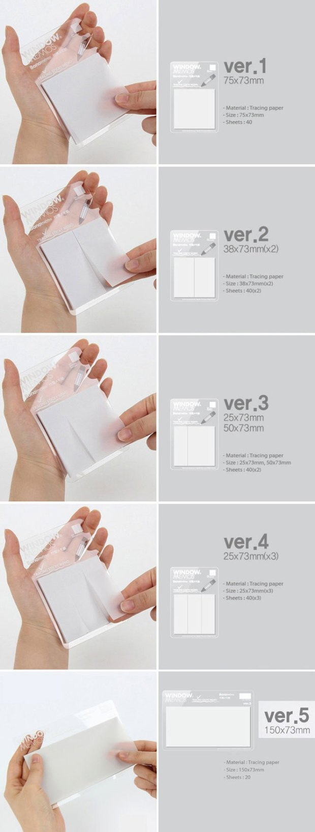 transparent sticky notes