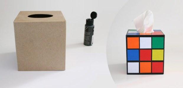 rubik's cube tissue box tutorial