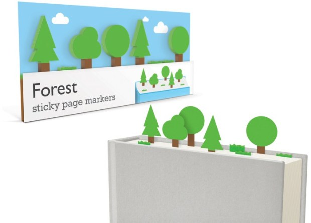 forest sticky page markers