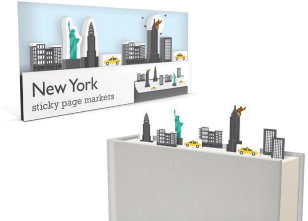 new york sticky page markers