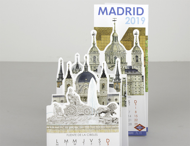 Calendario Pocket Madrid 2019