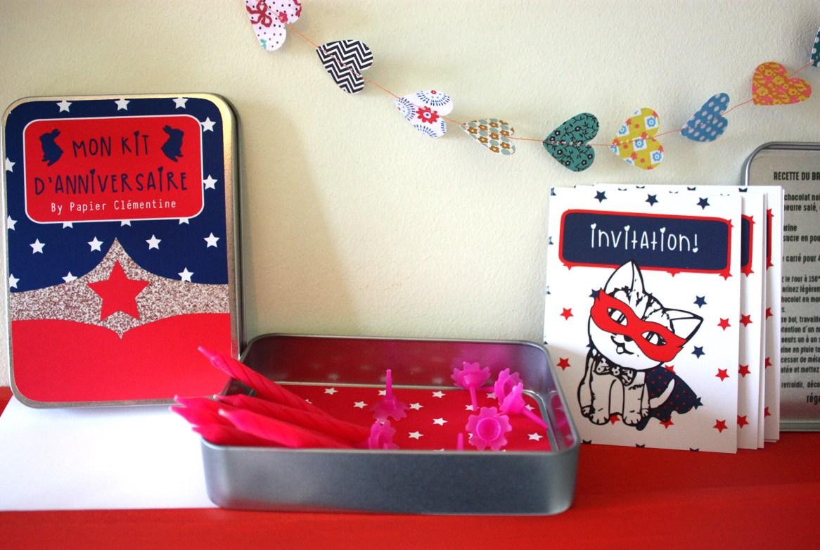 ambiance anniversaire wonder girl2 - Kits d'anniversaire