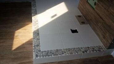 Łazienka z podestem