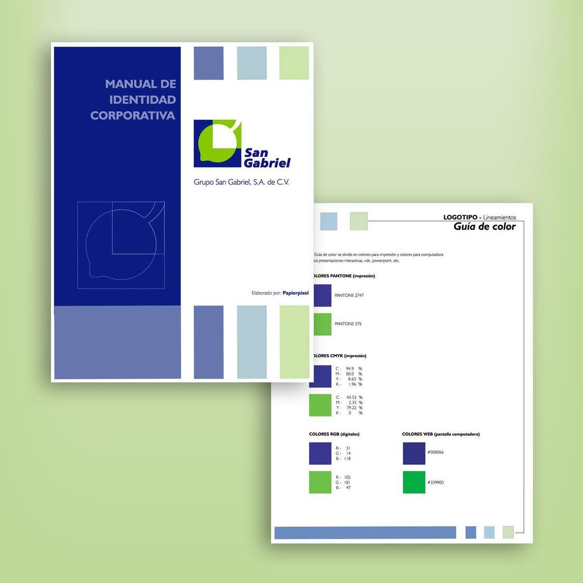 manual de identidad corporativa San Gabriel