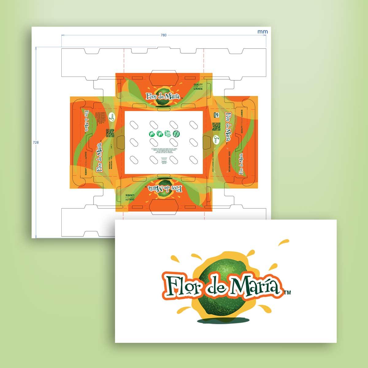 diseño de caja Flor de María