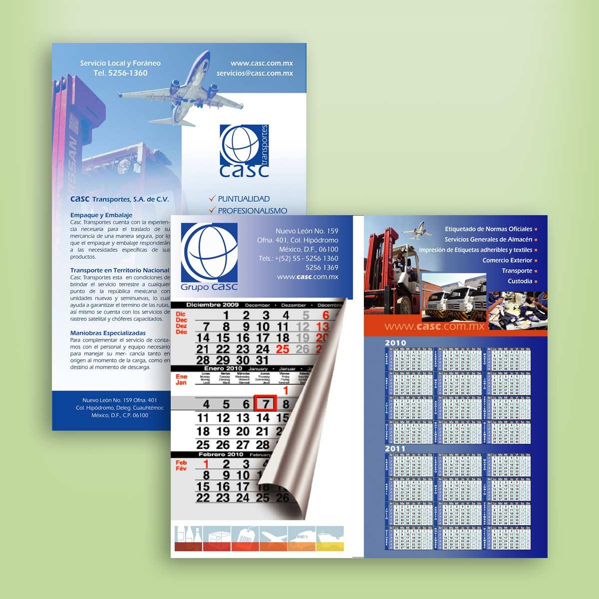 diseño de calendario CASC