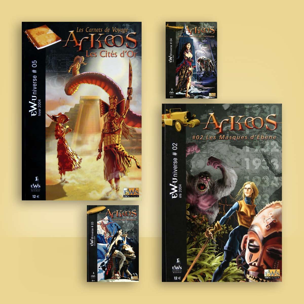 ilustración para portada de juego Arkeos