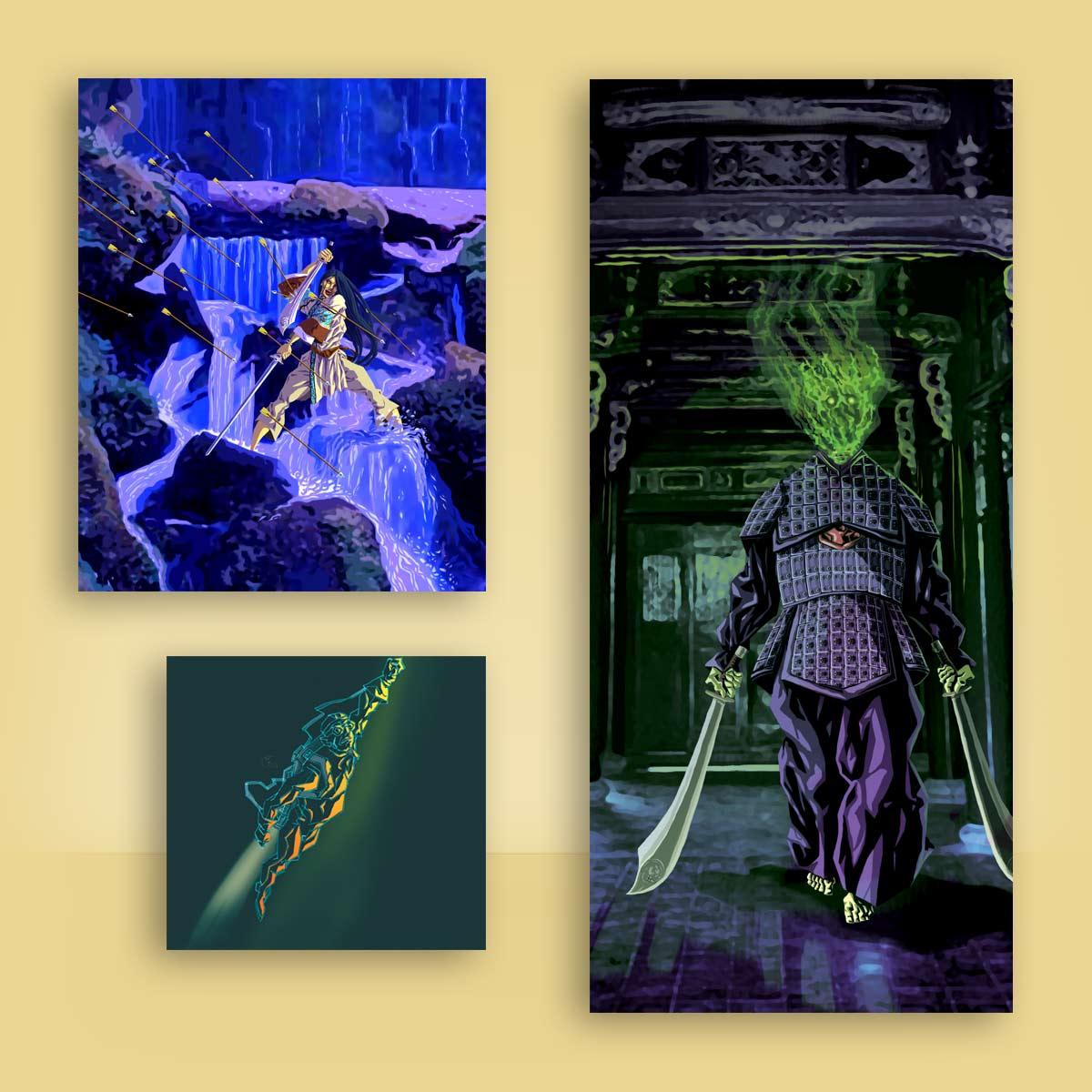 ilustración fantástica Arkeos