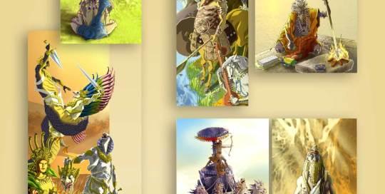 ilustración para juego Kali Yuga