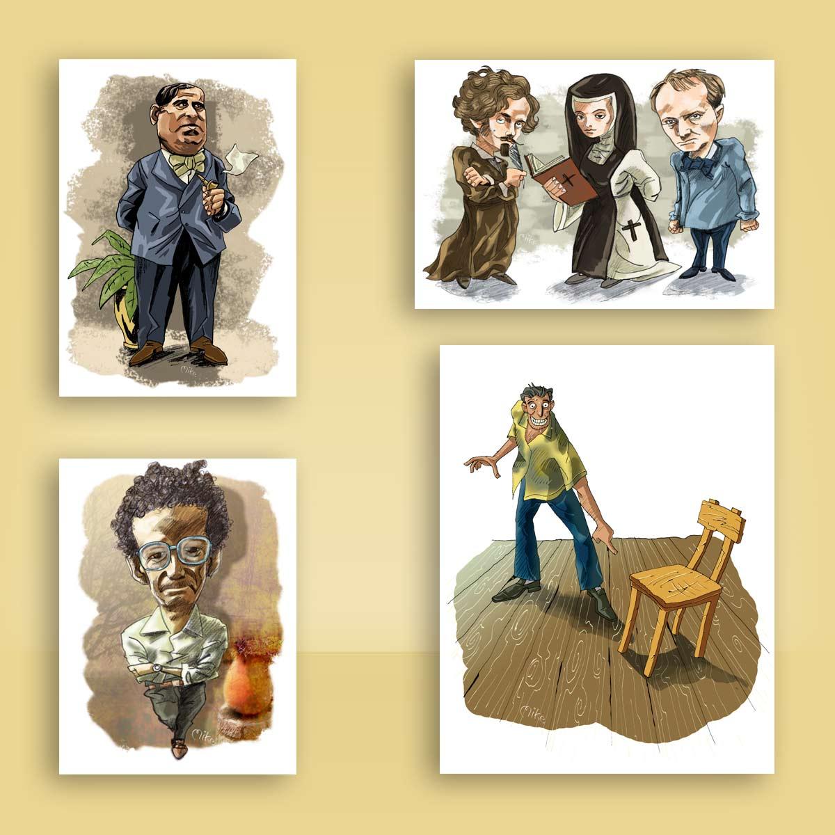 ilustración caricatura Nuevo México