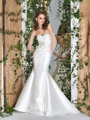 wedding dress with crisscross spaghetti straps
