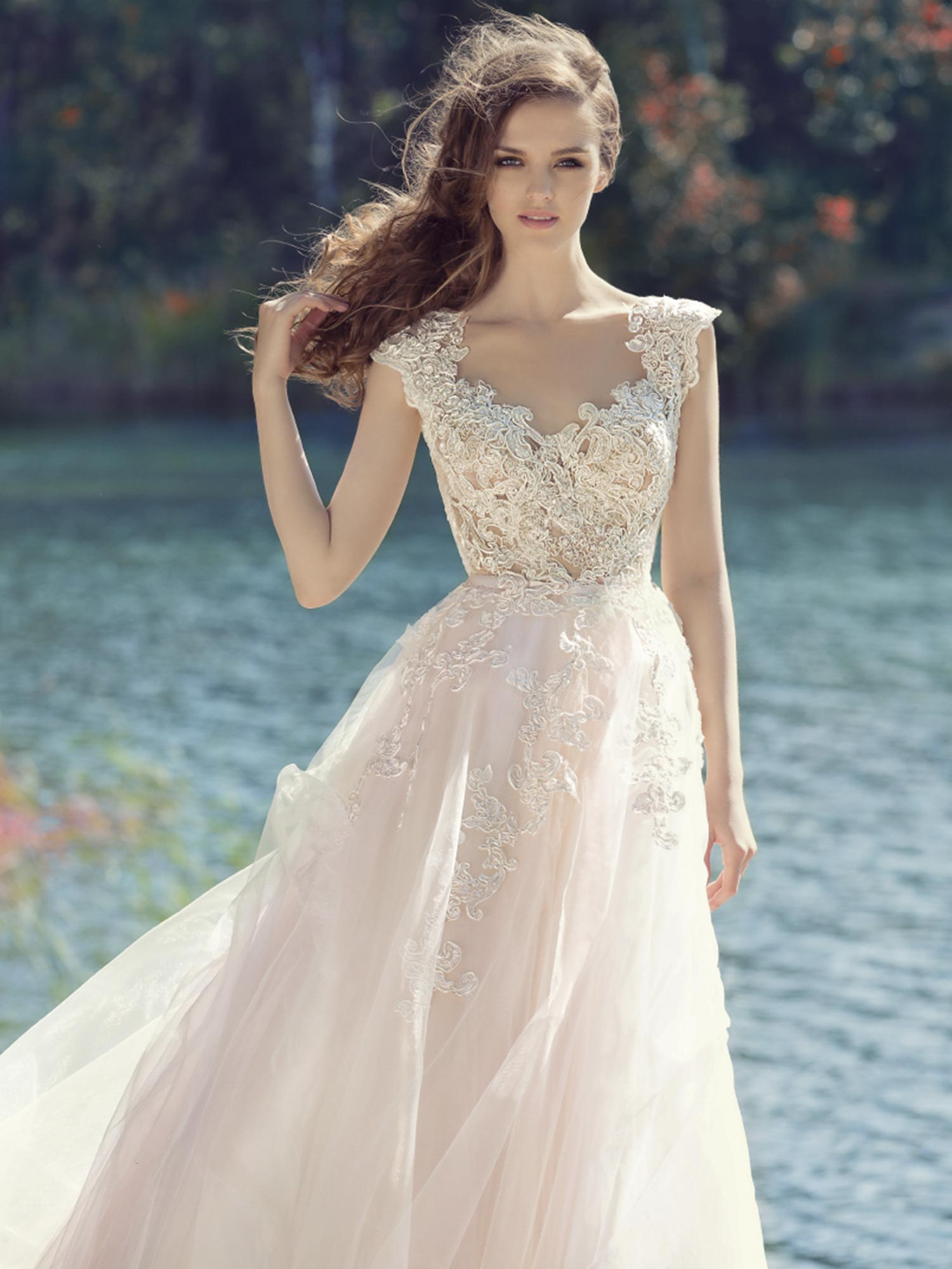 Ball Gown Illusion Neckline Sheer Back Long Sleeve Tulle