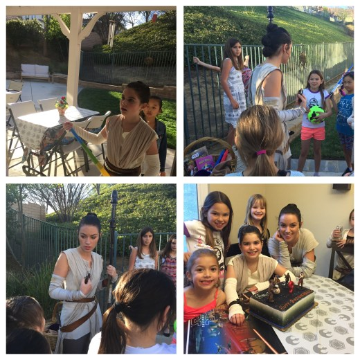 Snapshots from Rey's first visit to an Earthling birthday party.
