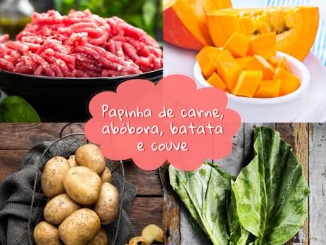 Papinha de carne, abóbora e couve nutritiva e saborosa