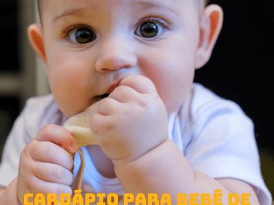 Cardápio para bebê de 06 meses