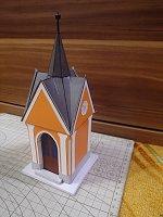 Papercraft imprimible y armable del Capilla de Hamry nad Sazavou / Kaplička v Hamrech nad Sázavou. Manualidades a Raudales.