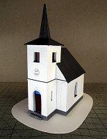 Papercraft imprimible y armable de la Capilla de Pikarec. Manualidades a Raudales.