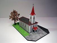 Papercraft building imprimible y recortable de la Iglesia de Chromec, en República Checa. Manualidades a Raudales.
