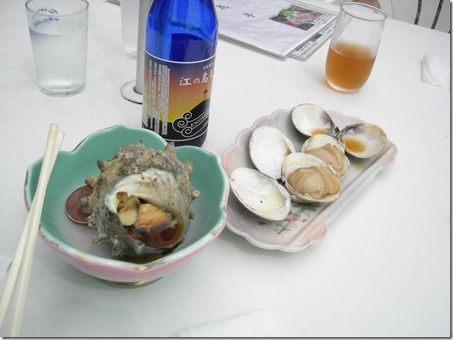 江の島ビールとサザエと蛤