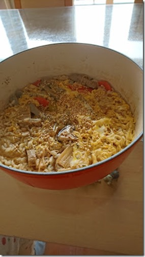 前日の鍋の残りの雑炊にじゃこてんを入れた食べ方
