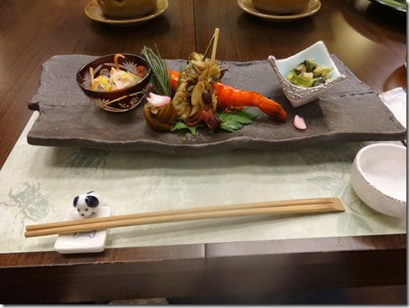 しぶごえ館山の夕食前菜