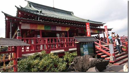 北軽井沢でペットと観光できる鬼押出し園遊歩道の浅間山観音堂