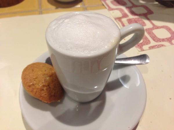 Café com espuma de leite