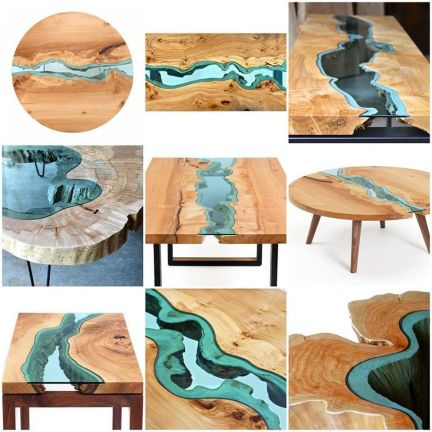 Amazing Resin Wood Table For Your Home Furniture 3