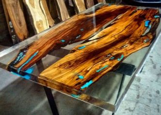 Amazing Resin Wood Table For Your Home Furniture 31