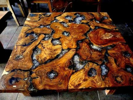 Amazing Resin Wood Table For Your Home Furniture 6