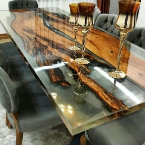 Amazing Resin Wood Table For Your Home Furniture 74