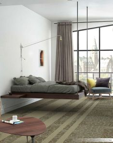 Cool Floating Bed Design Ideas 11