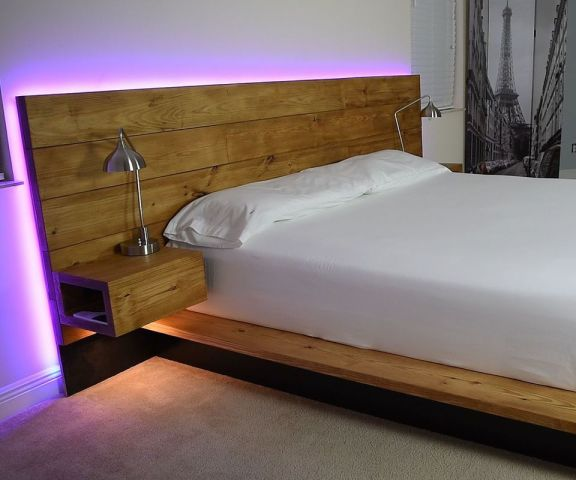 Cool Floating Bed Design Ideas 15