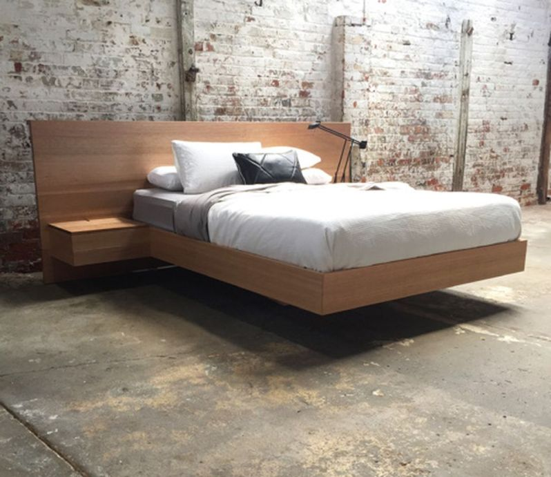 Cool Floating Bed Design Ideas 16
