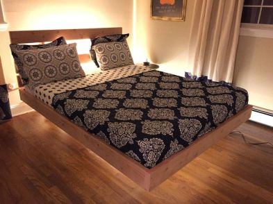 Cool Floating Bed Design Ideas 17