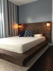 Cool Floating Bed Design Ideas 33
