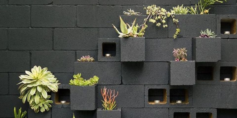 DIY Cinderblock Garden Design