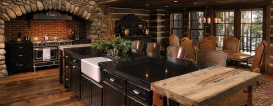 Rustic Wood Country Kitchen Design Featured