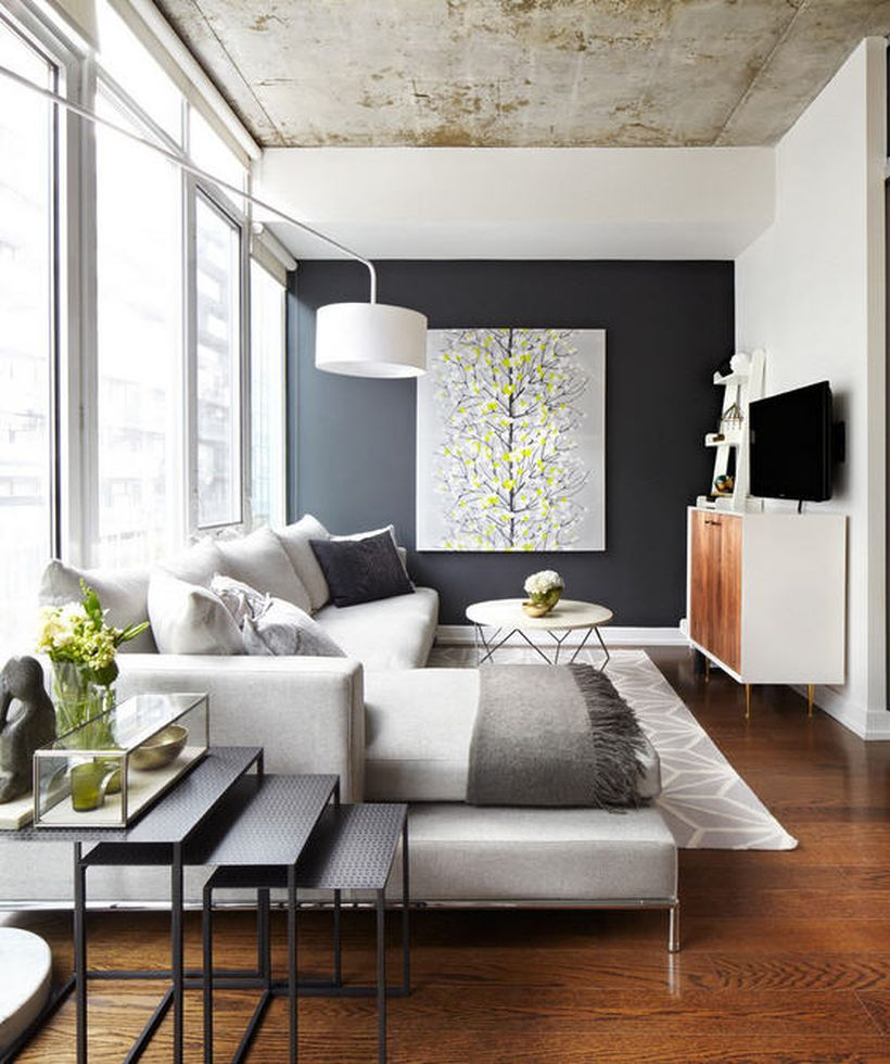 Awesome Modern Apartment Living Room Design Ideas 1