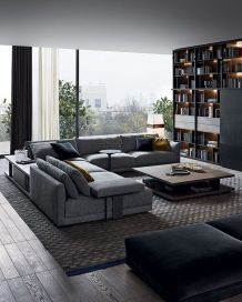 Awesome Modern Apartment Living Room Design Ideas 41