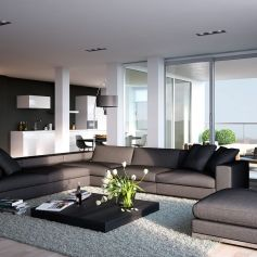 Awesome Modern Apartment Living Room Design Ideas 49