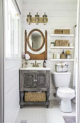 Awesome Rustic Country Bathroom Mirror Ideas 26