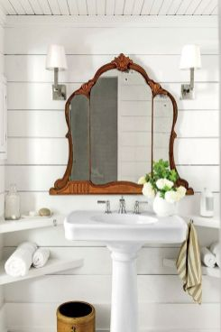 Awesome Rustic Country Bathroom Mirror Ideas 50