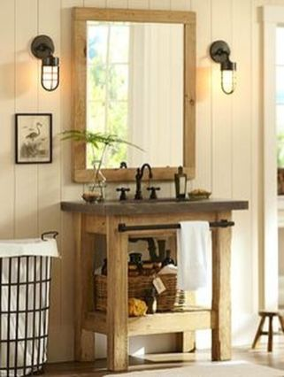 Awesome Rustic Country Bathroom Mirror Ideas 8
