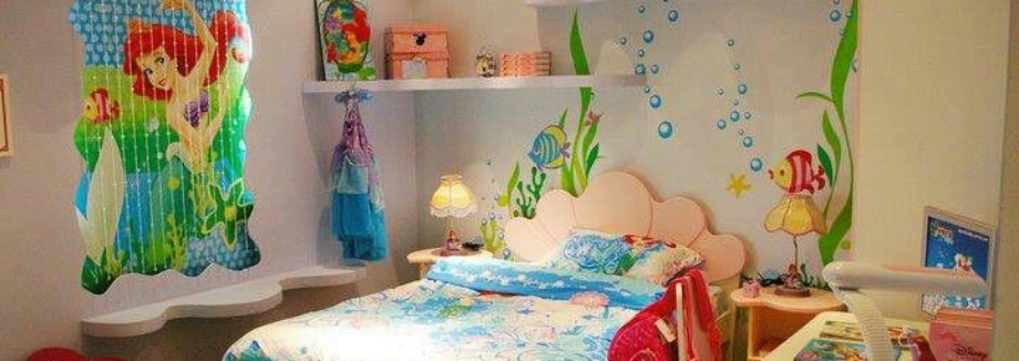 Mermaid Themes Idea For Children Kids Room