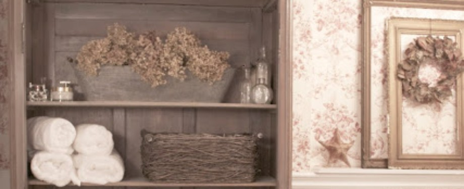 Rustic Country Bathroom Shelves Ideas Featured