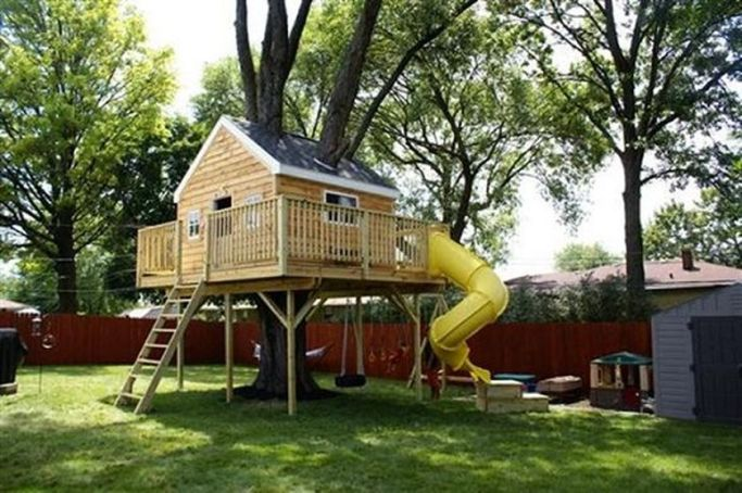 Simple Diy Treehouse For Kids Play 14