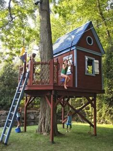 Simple Diy Treehouse For Kids Play 18